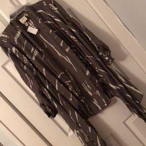 Asymmetrical flowy blazer